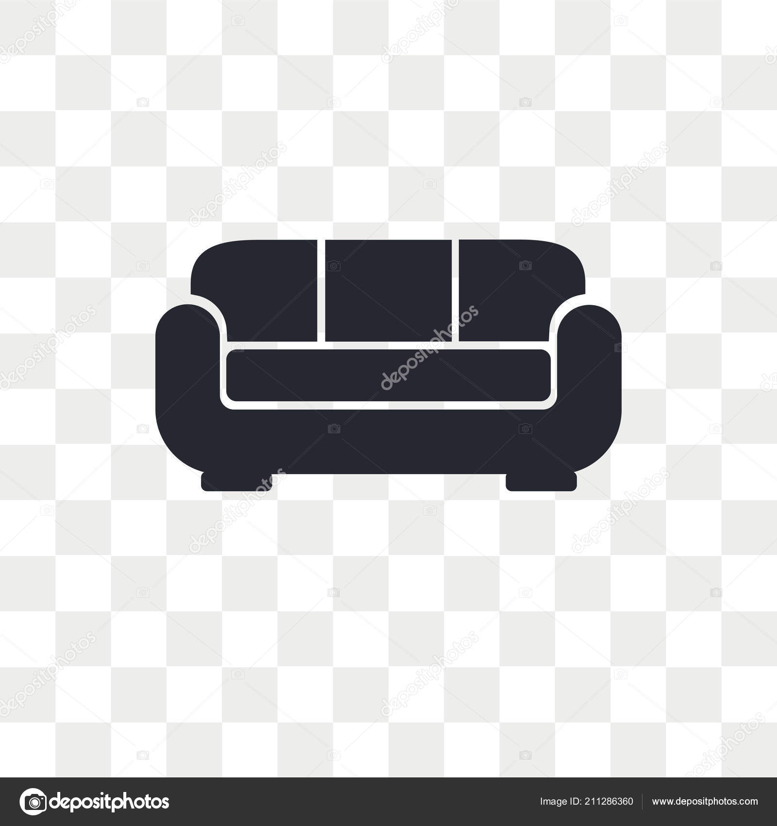 Sofa Vector Icon Isolated Transparent Background Sofa Logo Concept