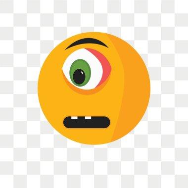 """Картина, постер, плакат, фотообои """"Грустной улыбкой Векторный icon, изолированные на прозрачном фоне, грустной улыбкой логотип концепцию"""", артикул 211283036"""