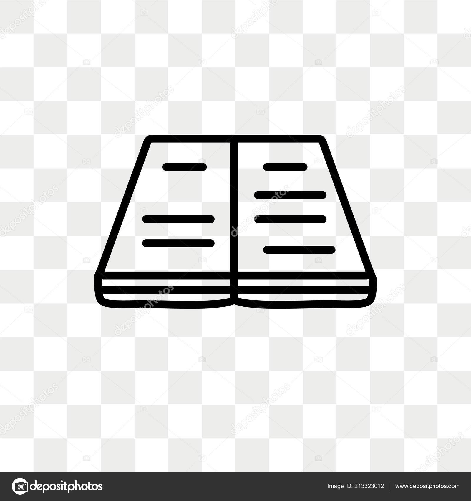 Icone De Vecteur De Livre Ouvert Isole Sur Fond Transparent