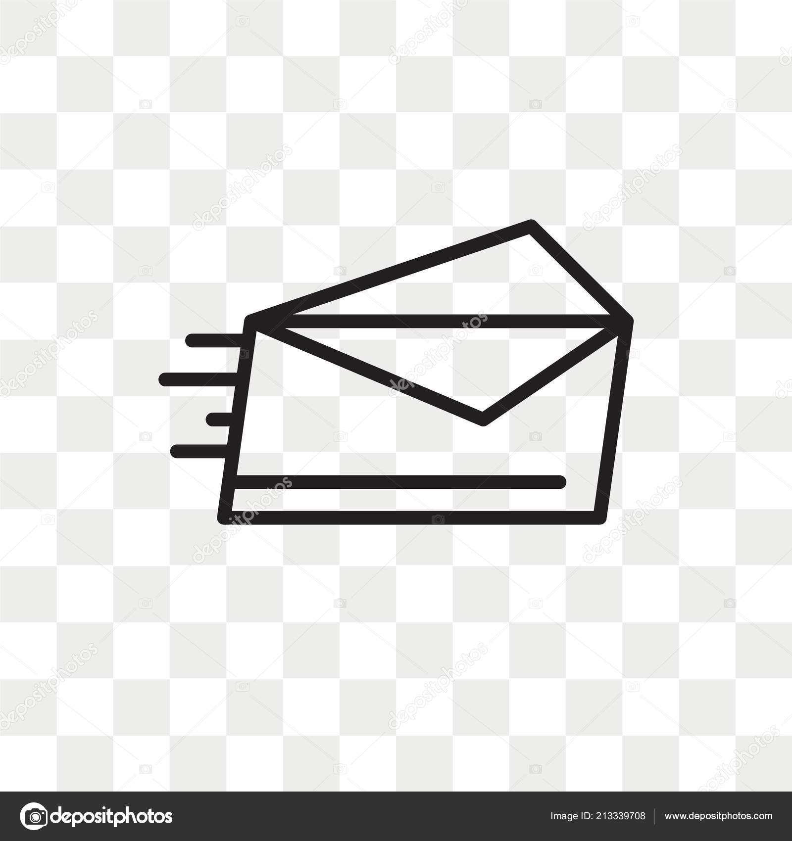 mail vector icon isolated on transparent background mail