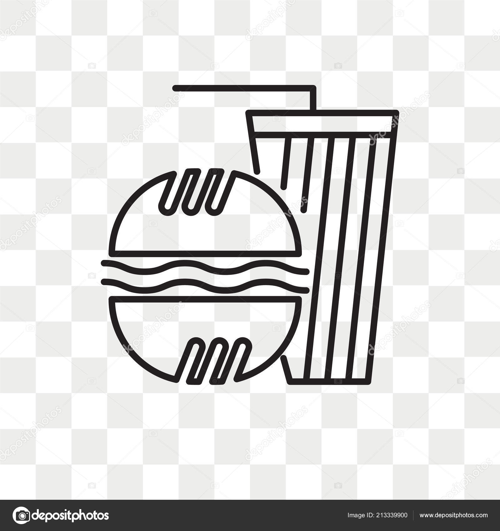 Fast food vector icon isolated on transparent background