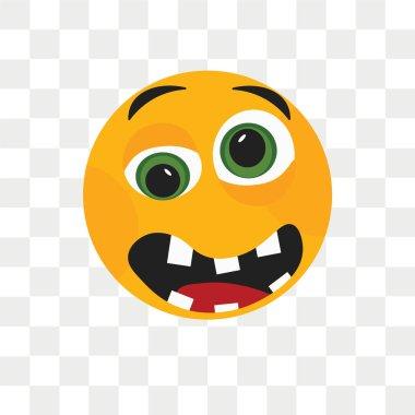 """Картина, постер, плакат, фотообои """"Грустной улыбкой Векторный icon, изолированные на прозрачном фоне, грустно sm"""", артикул 213331956"""