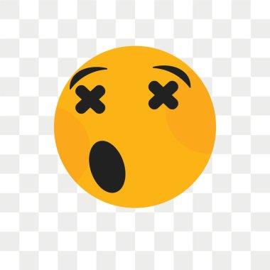 """Картина, постер, плакат, фотообои """"Грустной улыбкой Векторный icon, изолированные на прозрачном фоне, грустно sm"""", артикул 213337576"""