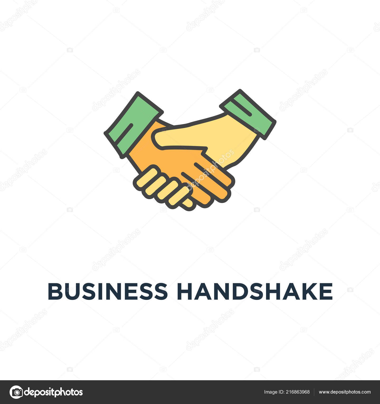Business Handshake Oder Hände Schütteln Vertrag Vereinbarung Symbol