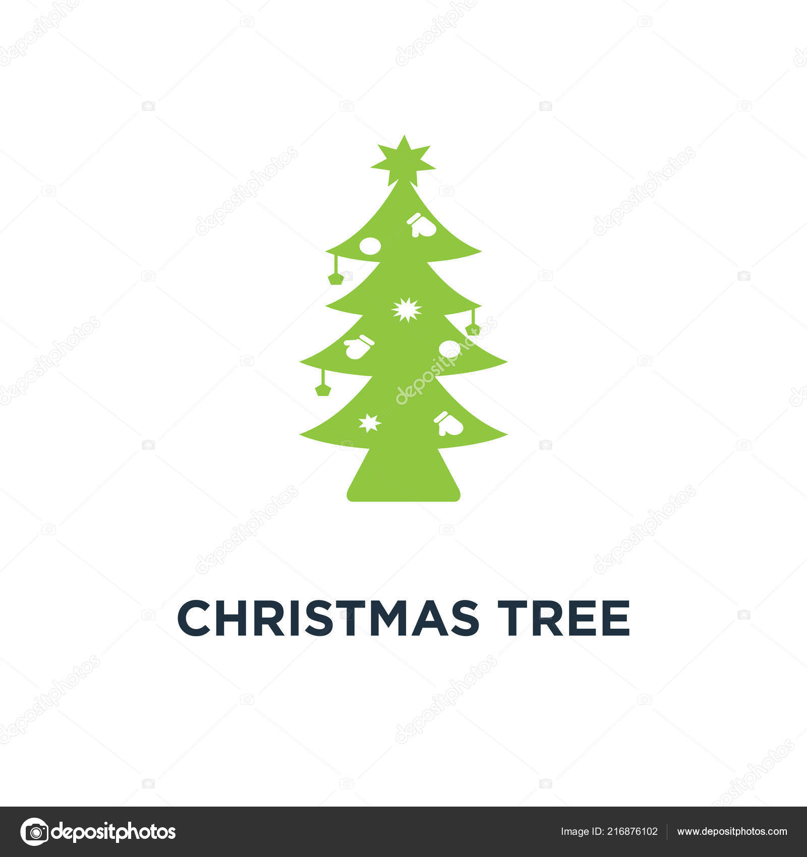 Christmas Holidays Icon.Christmas Tree Icon Holidays Button Concept Symbol Design