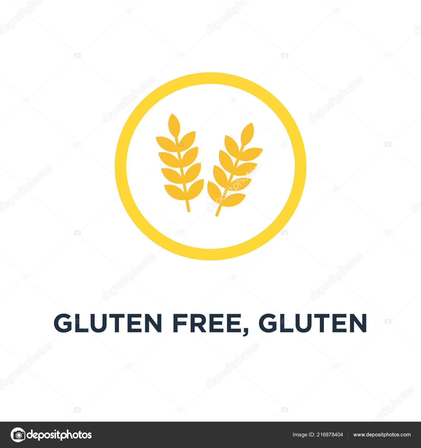 Gluten Free Gluten Free Icon Symbol Healthy Organic Wheat