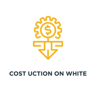 cost reduction on white icon. cost reduction on white concept symbol design, vector illustration