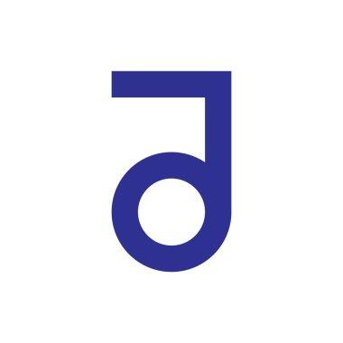 Letter JO logo design vector