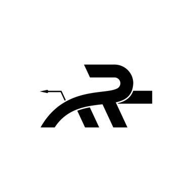 Letter MR Lion logo design vector