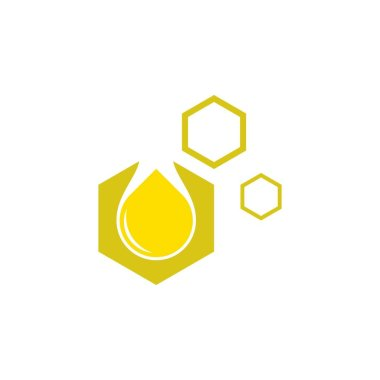 HONEY Comb logo design vector icon