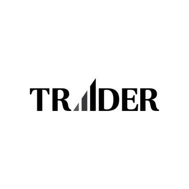 Modern TRADER logo design vector