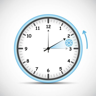 switch to winter time blue clock