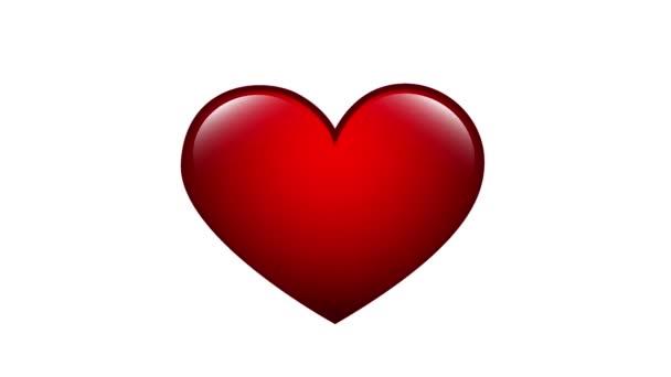 Herzschlag-Animation mit rotem Symbol