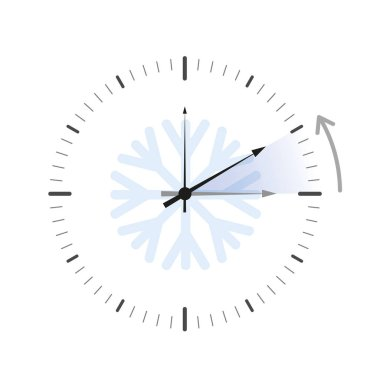 switch to winter time simple blue clock