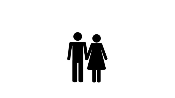 loving couple moves together in a house animation