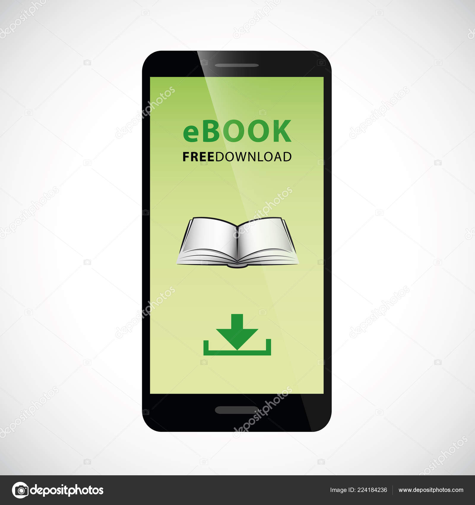 E Book Free Download Smartphone With Green Screen Stock