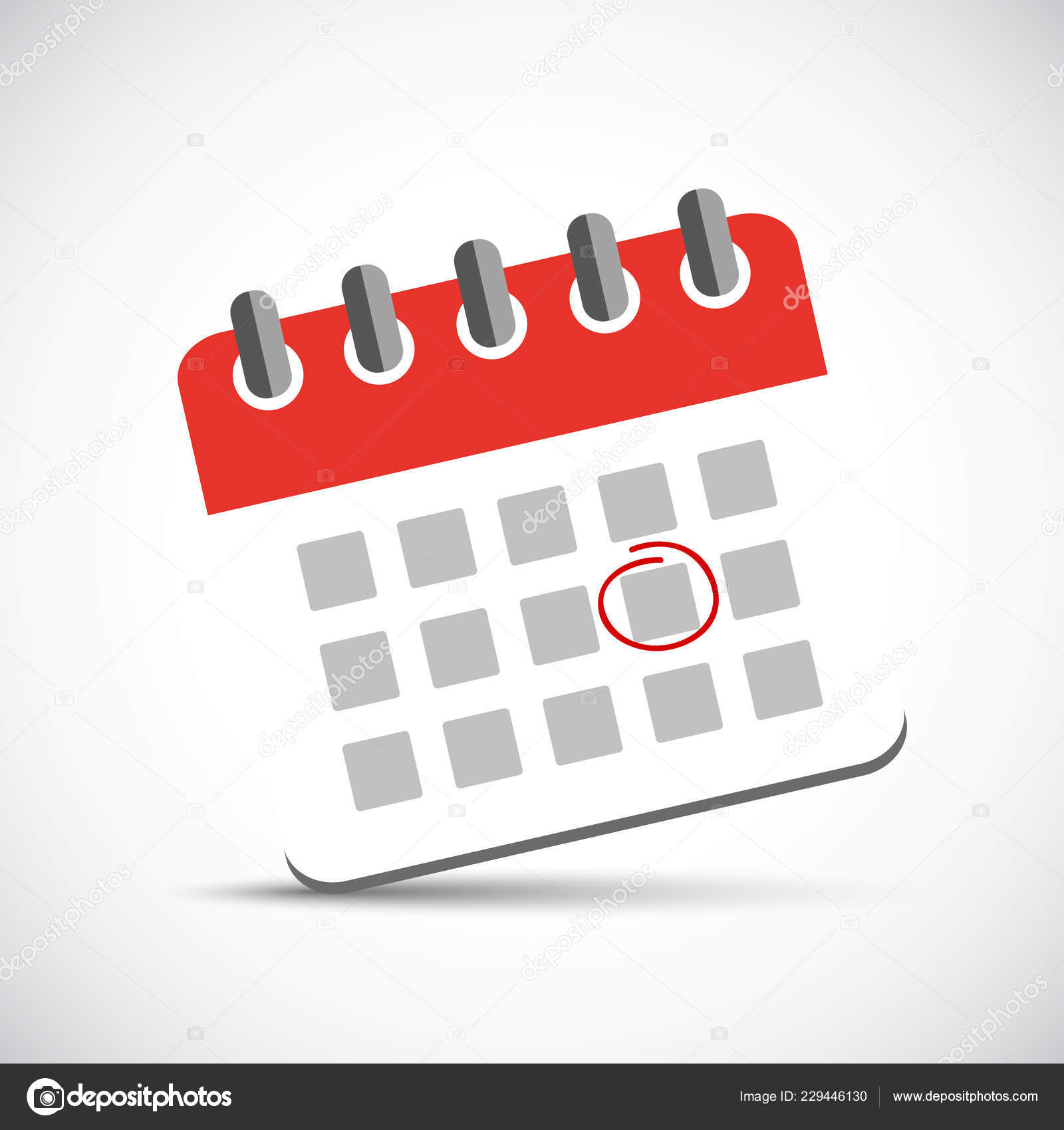 Illustration Calendrier.Appointment Circle In A Red Calendar Icon Pictogram Stock