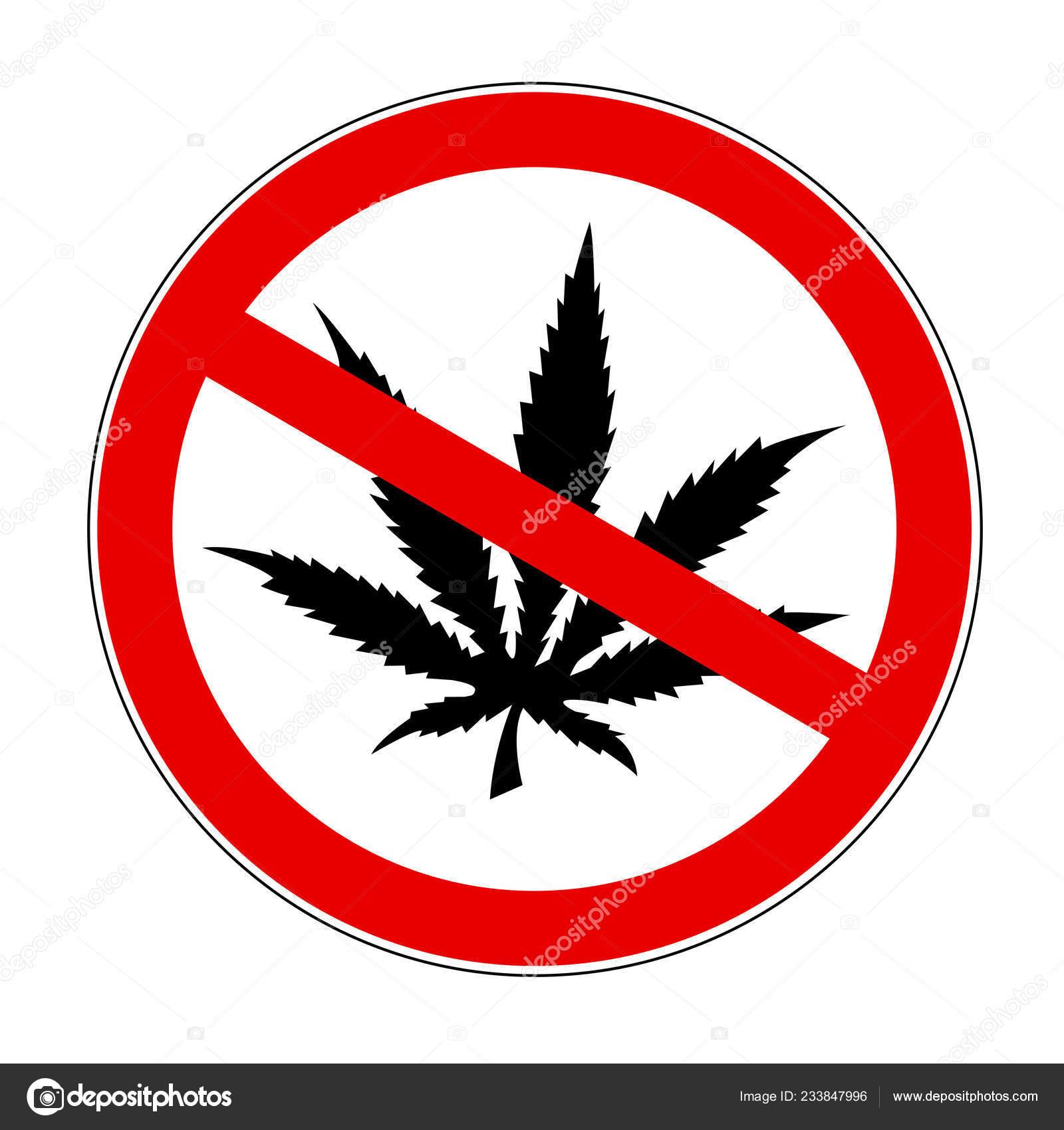 Значок нет конопле марихуана нарушения психики