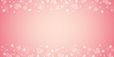 bright pink border with heart for wedding and valentines day