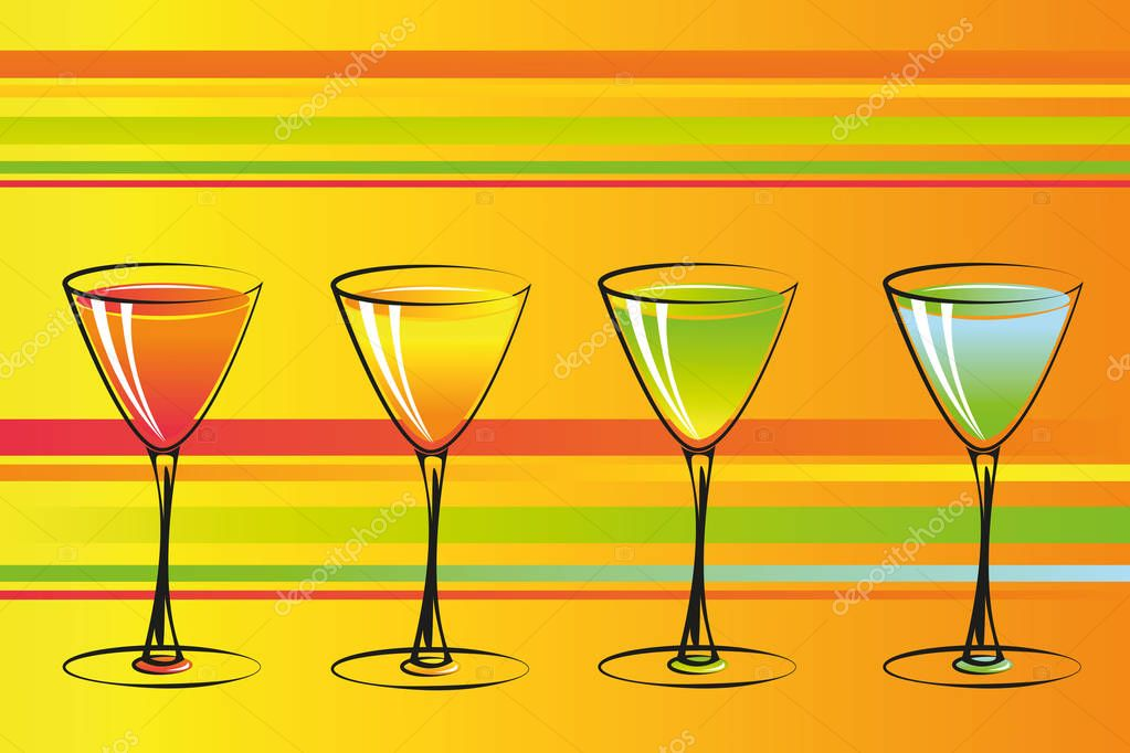 colorful cocktails party background