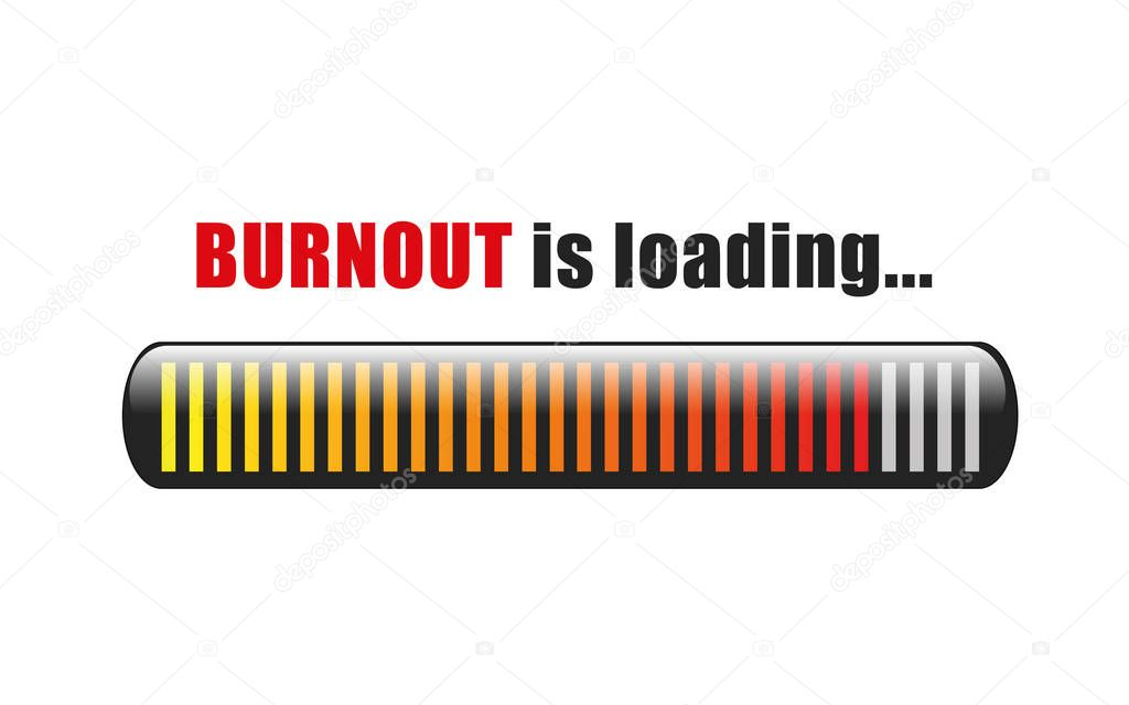 burnout is loading stress bar