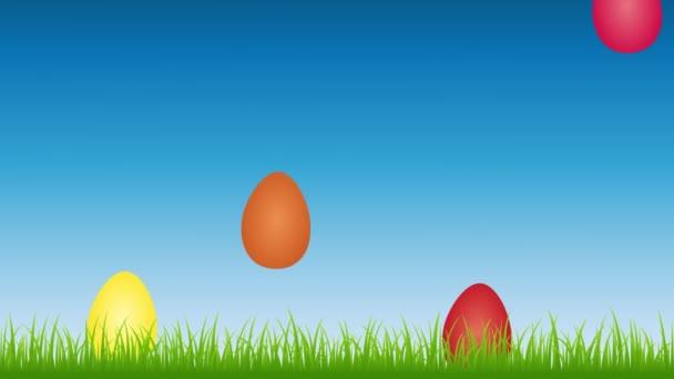 Zaječí uši na louce mezi barevné velikonoční vajíčka