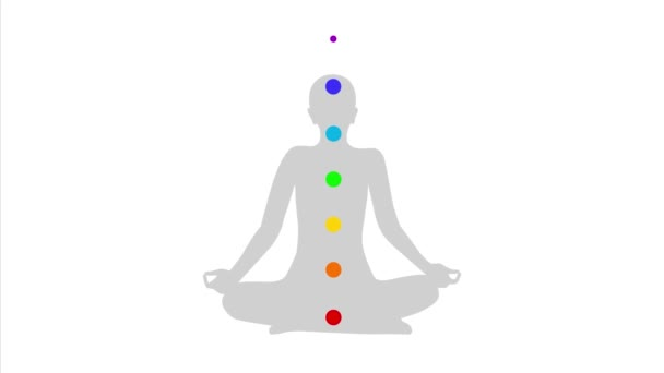 meditating person silhouette with chakra and description I feel