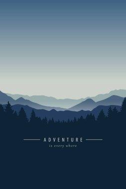 adventure blue mountain landscape background
