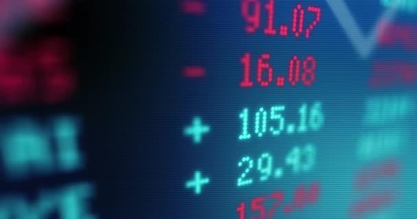 Animovaný údajů akciového trhu - akcie a akcie - obchodování trhu-Trading - mikro měny