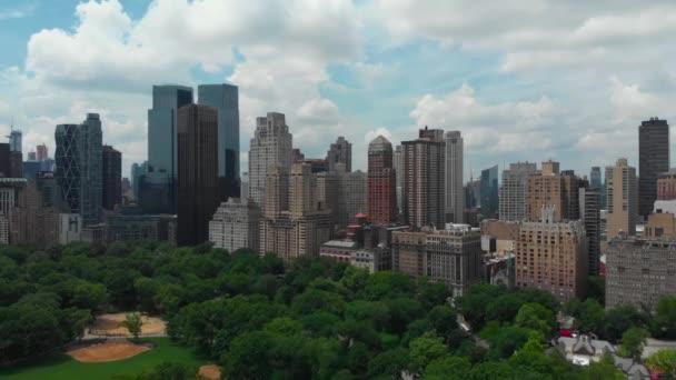 Dolly shot of New York cityscape