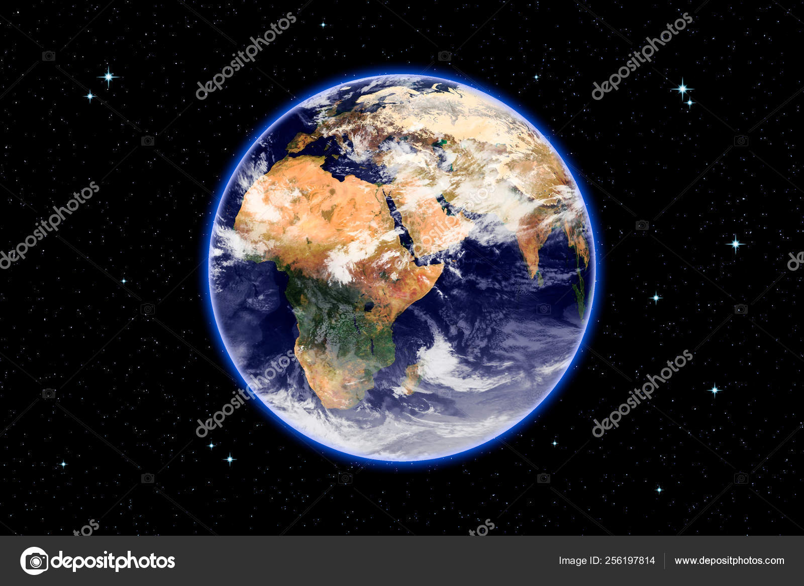 3d rendering of Planet Earth on a deep space background  Surface