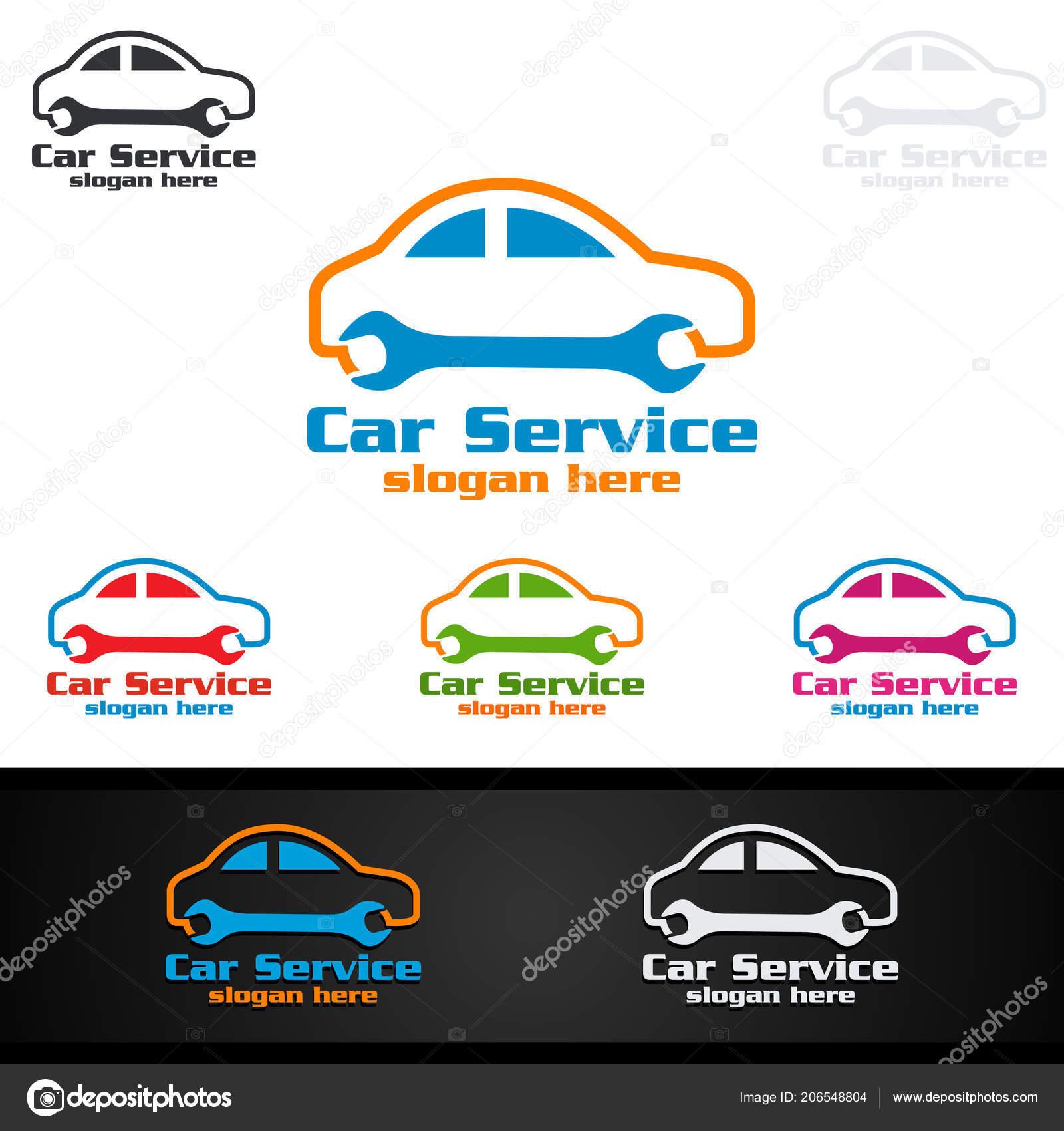 car service vector logo design auto repair shape car concept — stock
