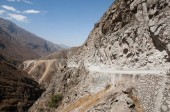 Photo Dangerous Road in the Andes Mountains - Peru