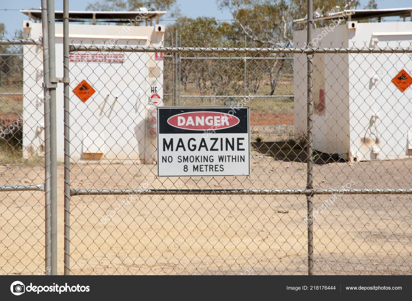 Explosives Magazine Enclosure Mining — Stock Photo © adwo