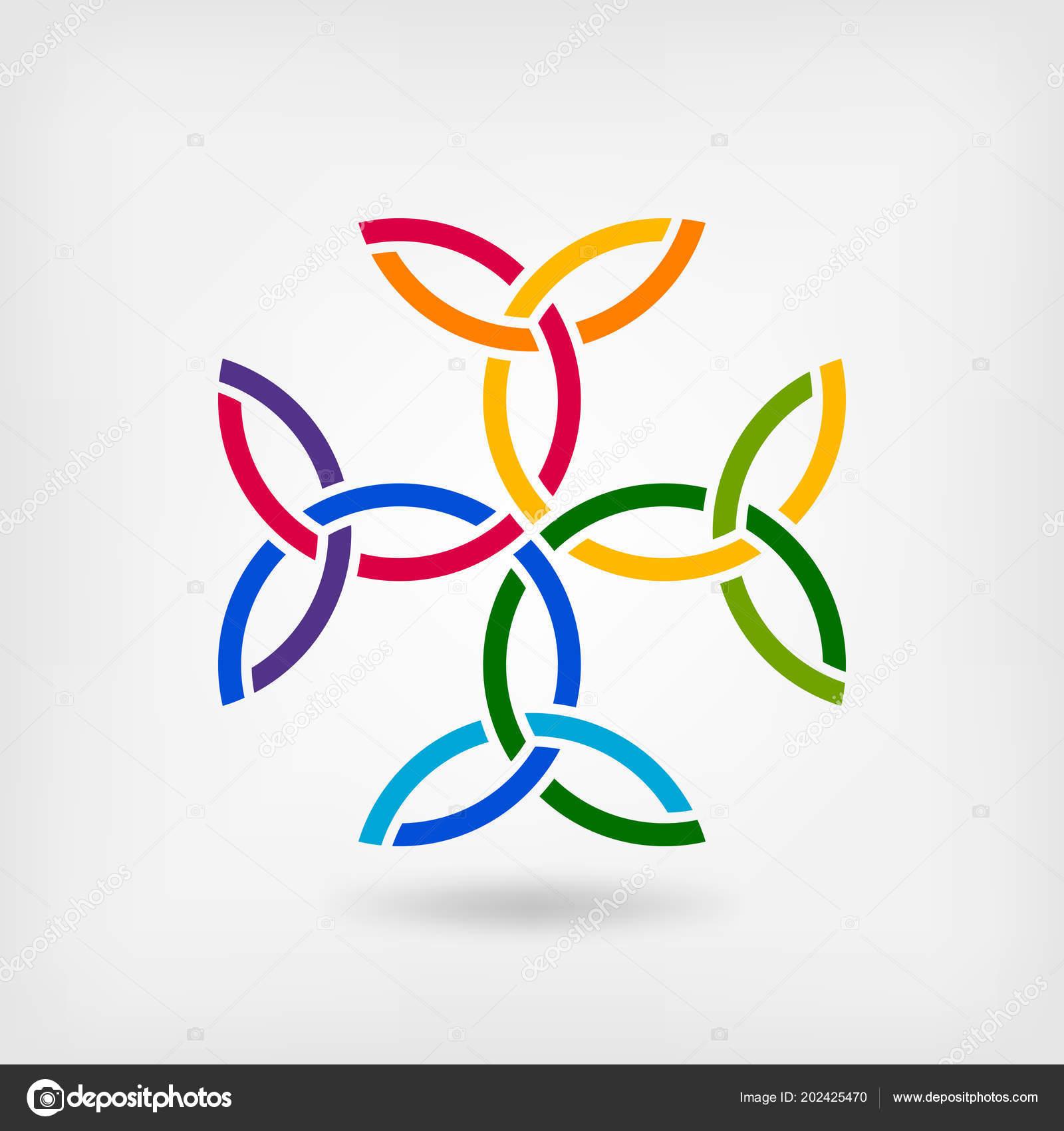 Carolingian Cross Trinity Knots Celtic Symbol Stock Vector