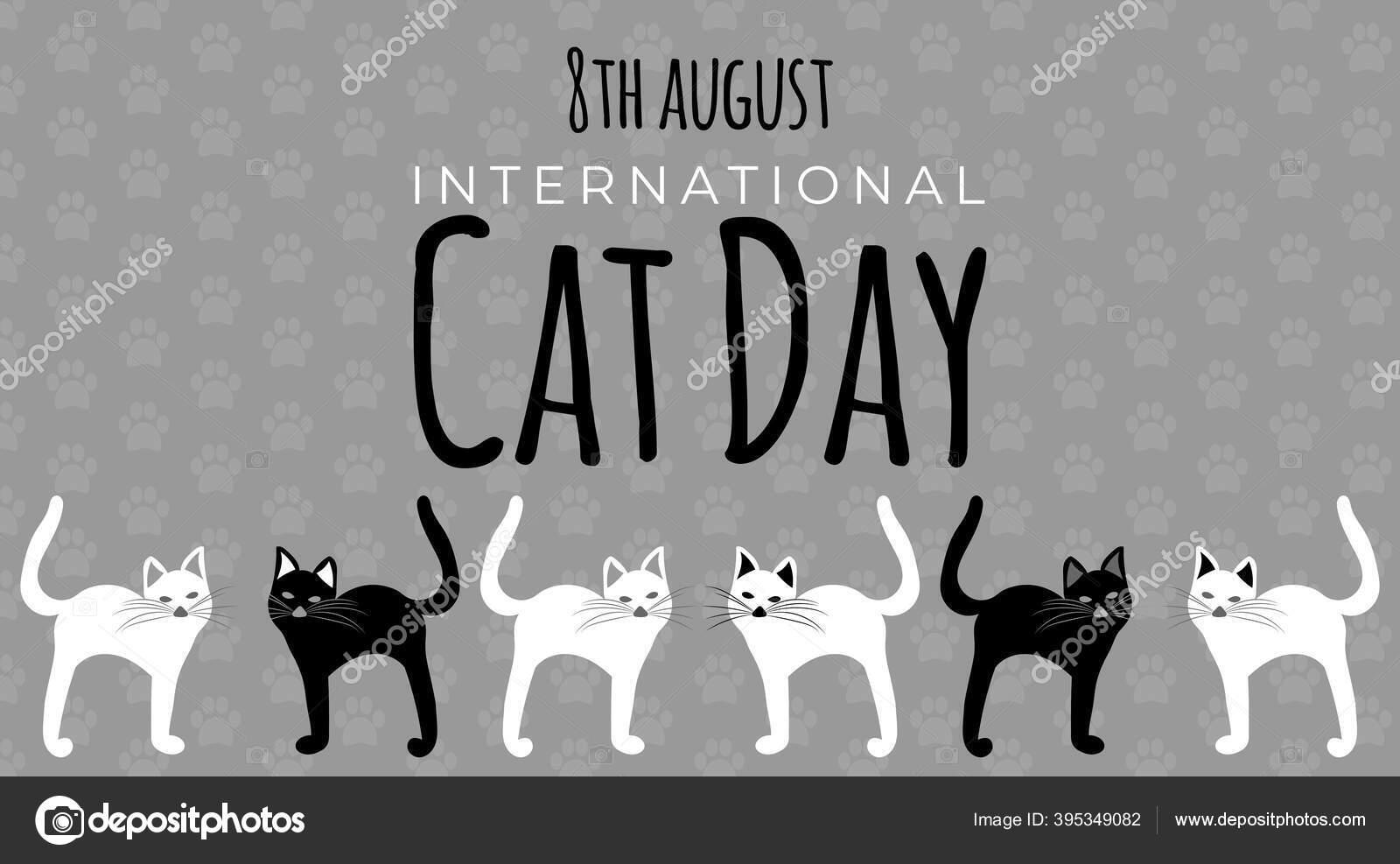 International Cat Day Stock Vectors Royalty Free International Cat Day Illustrations Depositphotos