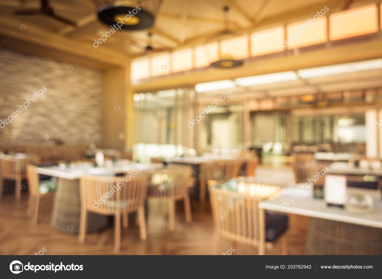 Abstract Blur Defocused Restaurant Buffet Hotel Resort Background Stock Photo C Mrsiraphol 203762942