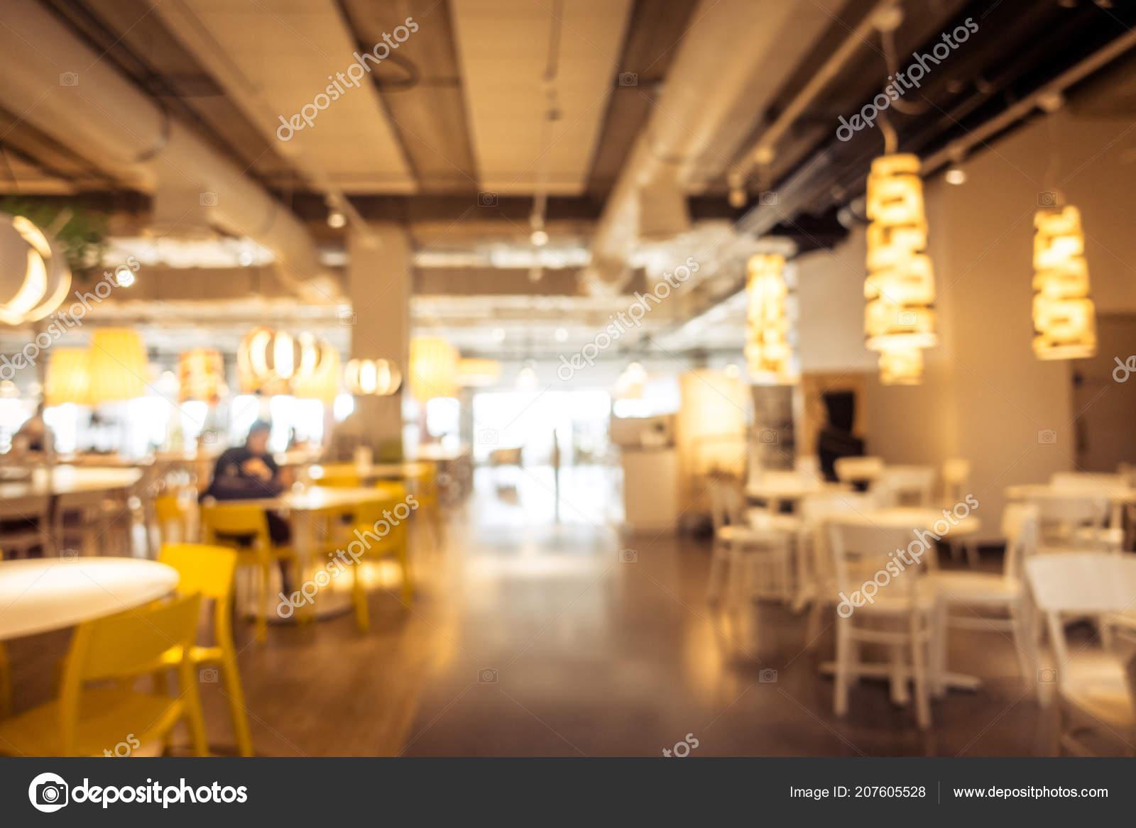Abstract Blur Defocused Coffee Shop Cafe Restaurant Interior Background Stock Photo C Mrsiraphol 207605528
