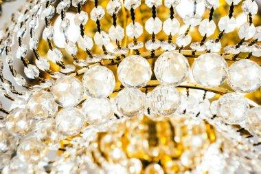 Beautiful luxury crystal chandelier decoration interior of room