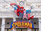 Osaka, Japan - 12 November 2018 : Beautiful amusement attraction of spider man in Universal studio Osaka
