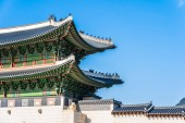 Photo Beautiful architecture building Gyeongbokgung palace in Seoul South Korea