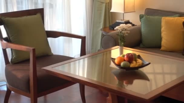 footage of hotel living room luxury interior