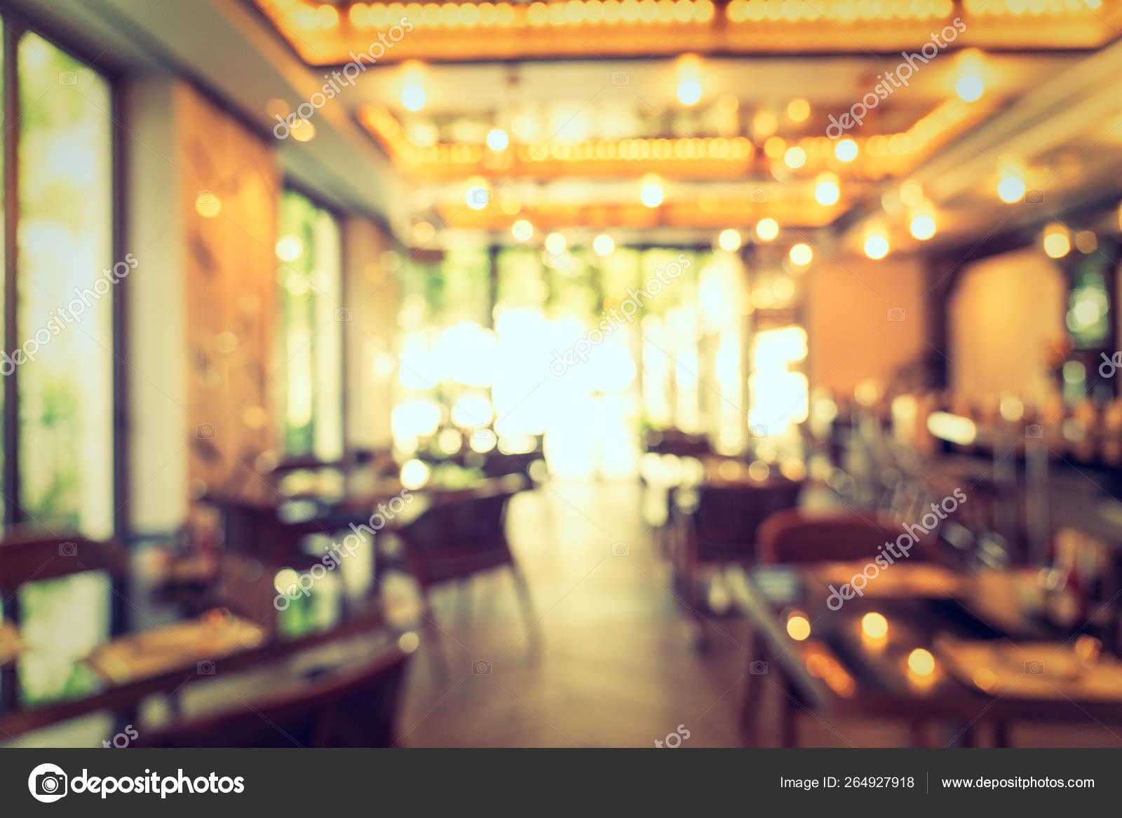 Abstract Blur Defocused Coffee Shop Cafe Restaurant Interior Background Stock Photo C Mrsiraphol 264927918