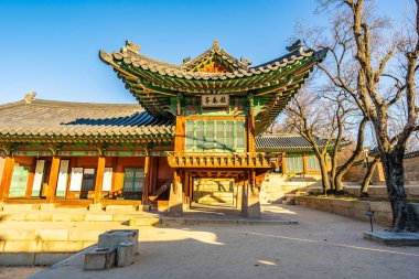 Beautiful architecture building Changdeokgung palace in Seoul ci