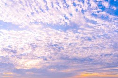 Beautiful cloud around sky at sunrise time