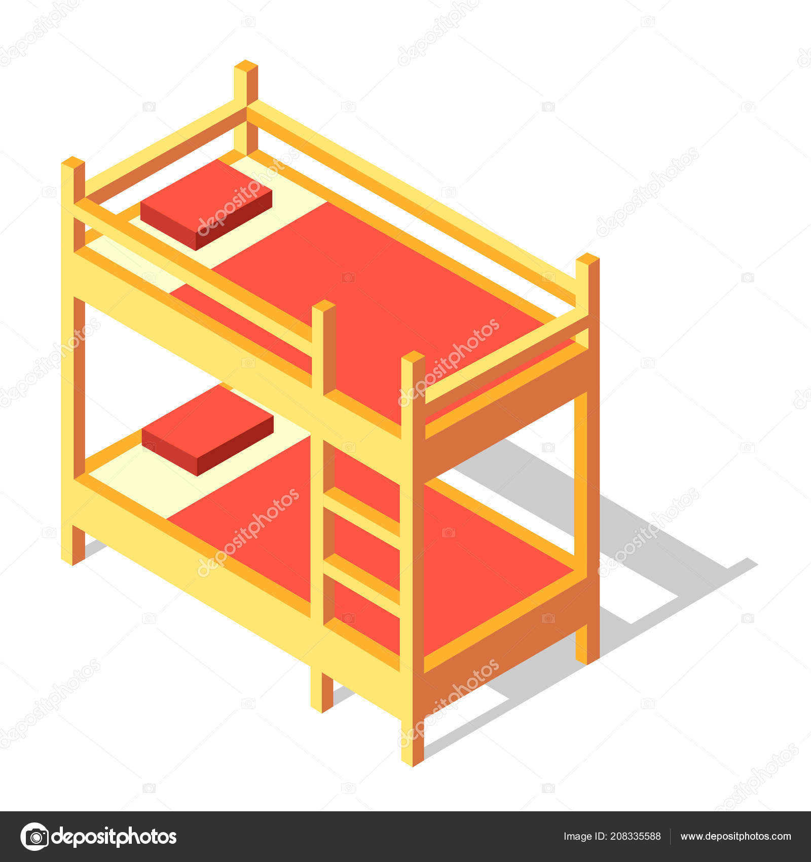 Disegno Letto A Castello.Bunk Bed Isometric Illustration Stock Vector C Chanut Is