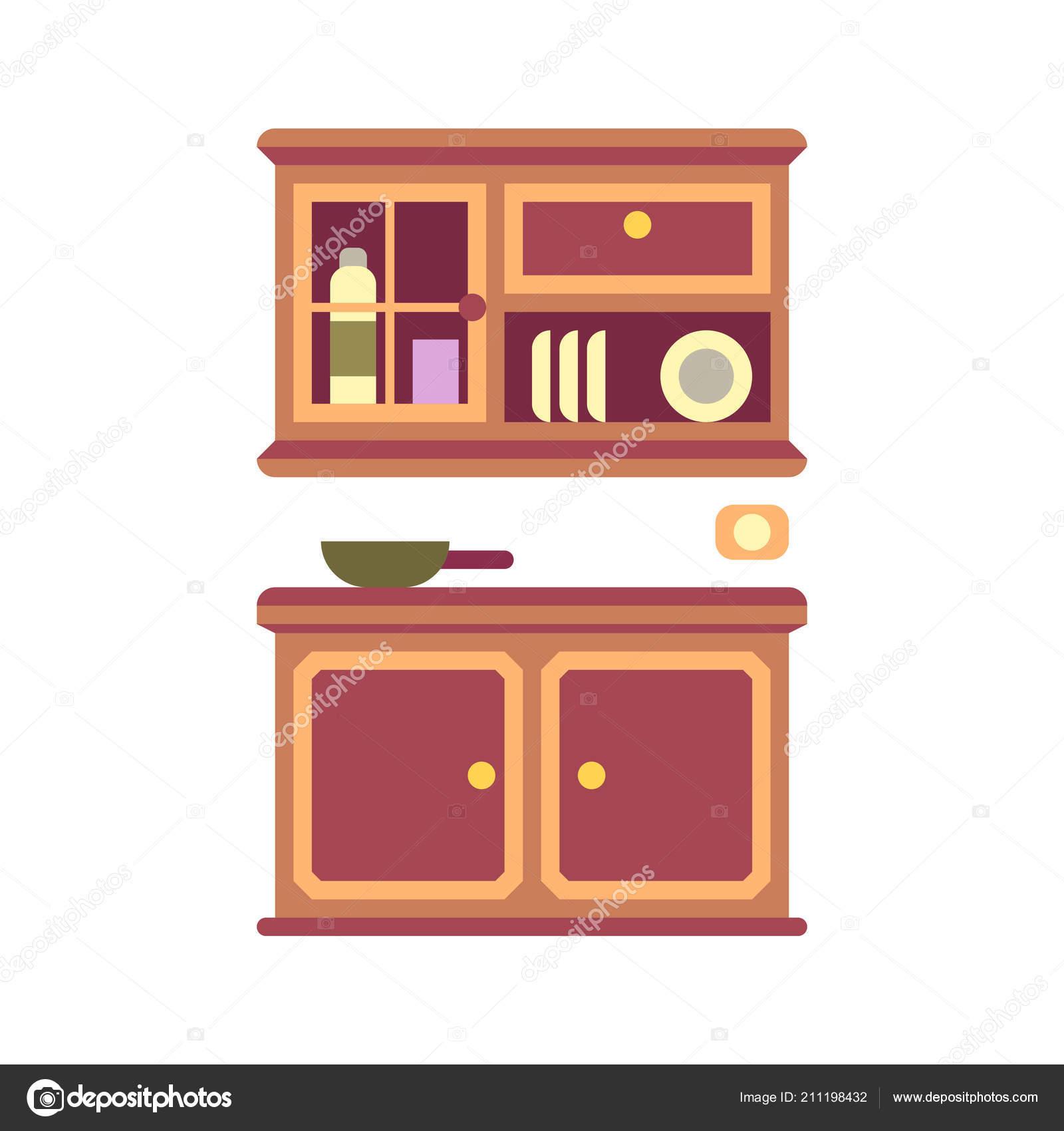 Icono plano mueble de cocina — Vector de stock © Chanut-is ...