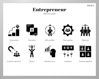 Entrepreneur vector illustration in solid color design icon
