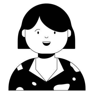 woman, female  icon, vector illustration