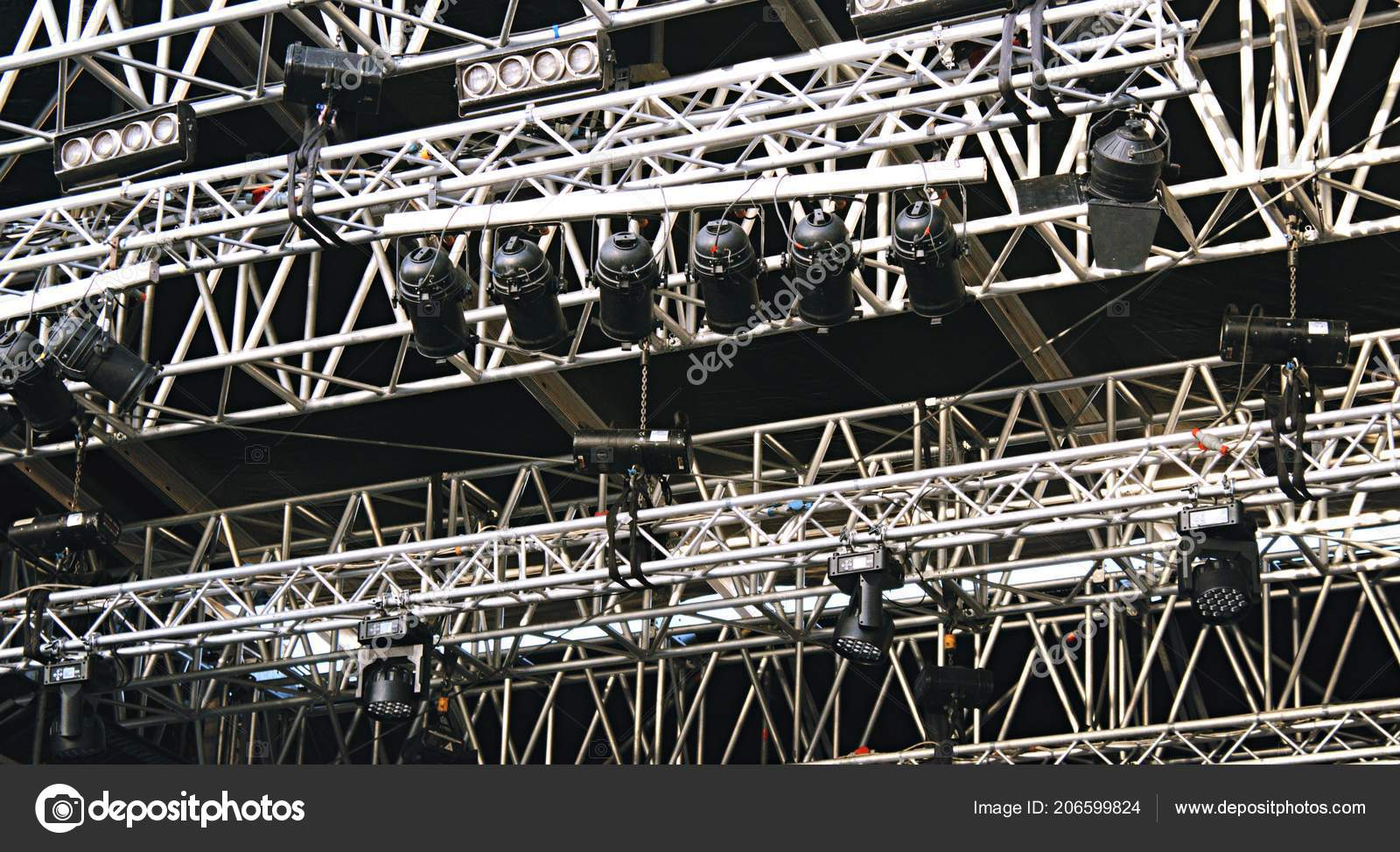 Concert Stage Spot Lighting Rigging Structure Live Musical